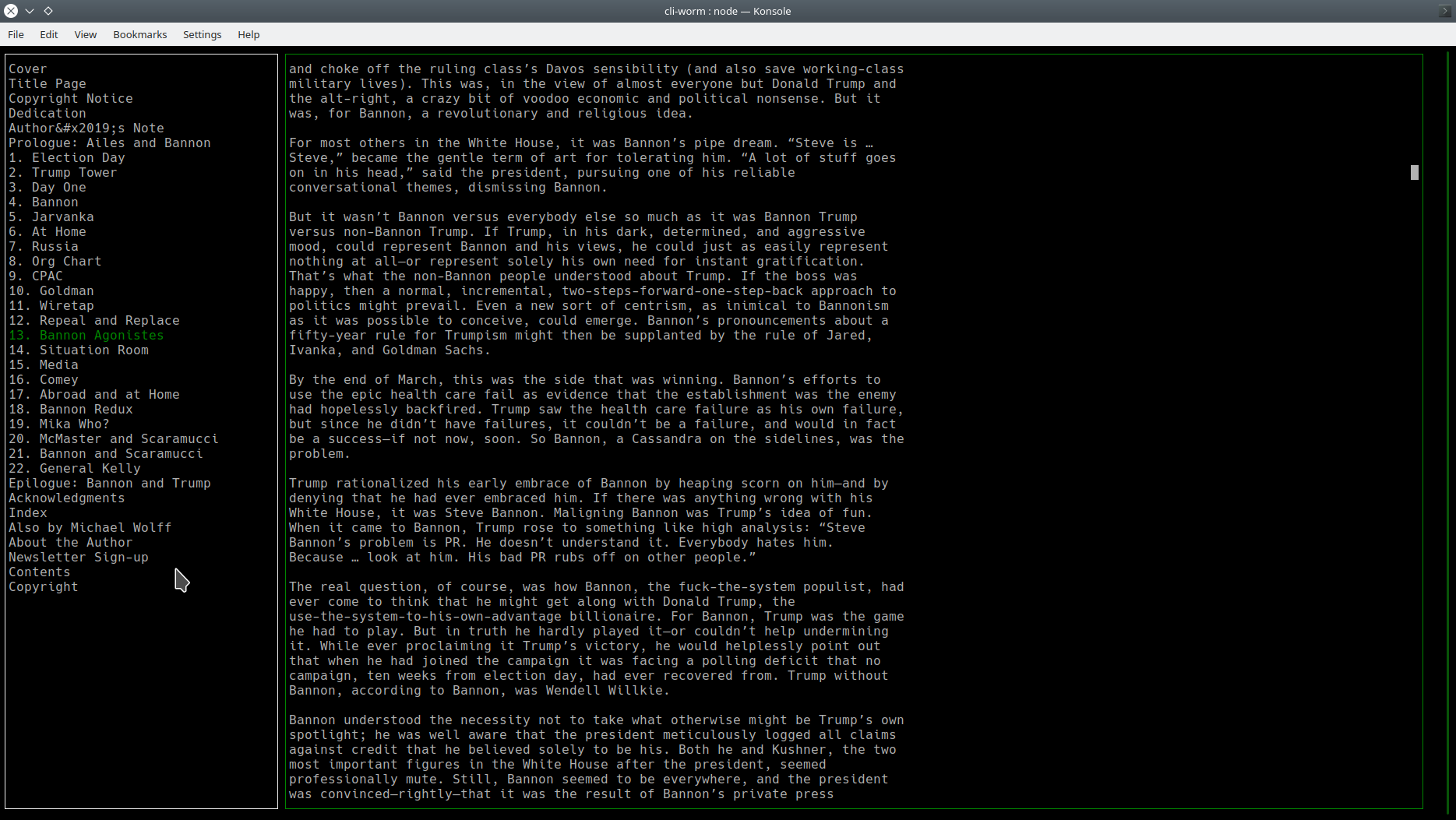 cli-worm screen shot